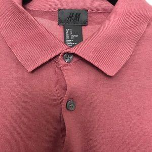 H&M Shirts - H&M men's polo shirt pink size small